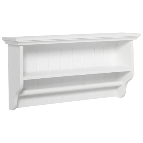 taymor decorative wall shelf with towel bar. Black Bedroom Furniture Sets. Home Design Ideas
