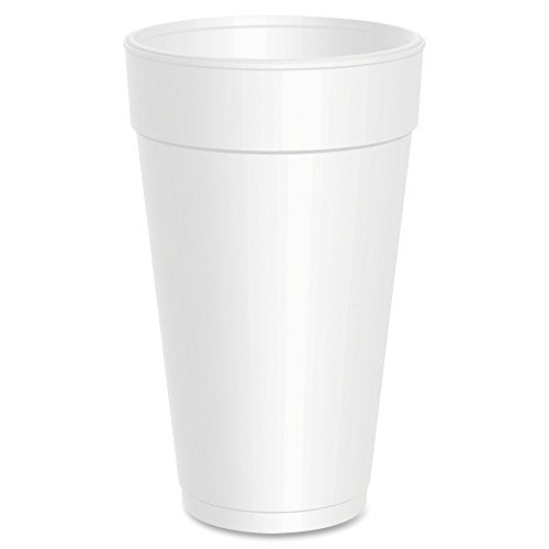 Dart 12 Oz White Styrofoam Cups - 1000 Per Case