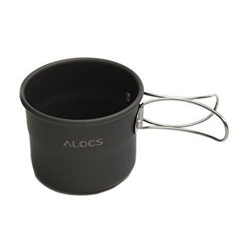Hillside Fire 1pcs Alocs 150ml Portable Outdoor Camping Drinkware Cups Aluminum Oxide Water Cup With Foldable Handles Water Bottles TW-402