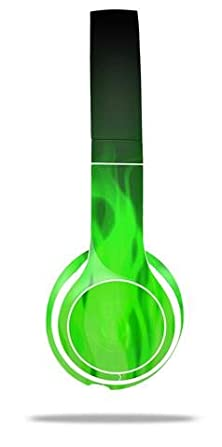 buy Fire Green - Decal Style Skin Fits Genuine Beats Solo 2 Headphones (Headphones Sold Separately)