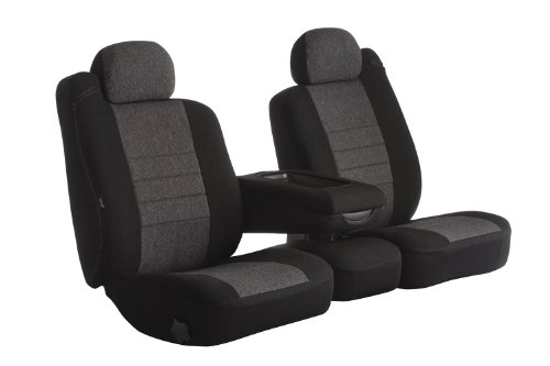 Fia Oe38-27 Charc Custom Fit Front Seat Cover Split Seat 40/20/40 - Tweed, (Charcoal) front-160745