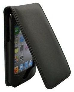 LE Black Leather Folio Flip-Up Folding Case Cover for Apple iPod Touch 4th Gen Generation 4G 8GB 32GB 64GB