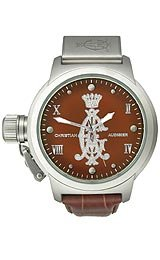 Christian Audigier Eternity Collection Meridiem Skin Brown Dial Unisex Watch #ETE118
