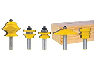 Yonico 12536 Raised Panel Cabinet Door Router Bit Set With