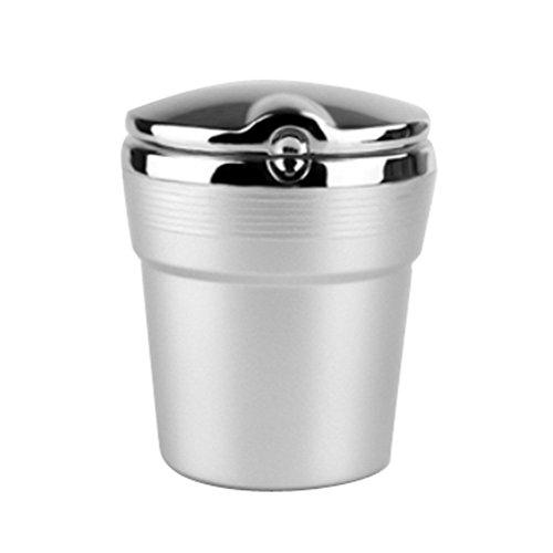 Tinksky LED portatile auto cilindro Cup Auto sigaretta portacenere (argento) - Cup Holder Posacenere