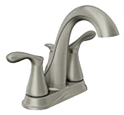 Moen 84948SRN Double Handle Centerset Bathroom Faucet from the Varese Collection, Spot Resist Brushed Nickel