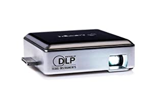 Aiptek MobileCinema i50D DPL-Projektor (Kontrast 1000:1, 35 ANSI Lumen, VGA 640 x 480 Pixel) silber/schwarz