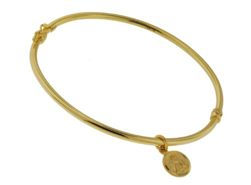 9ct Yellow Gold Angle Charm Bangle