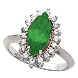 Marquise Cut Chatham Emerald
