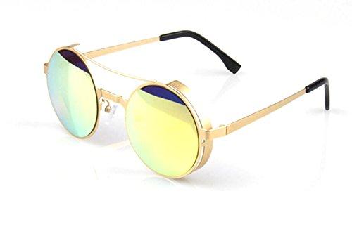 Wawoo®Fashion Retro Metal Frame Round Sunglasses