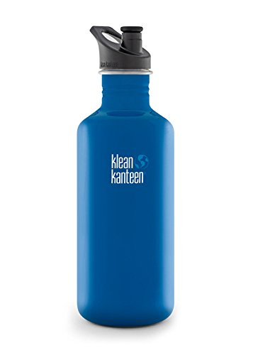 Klean Kanteen Classic Water Bottle with Sport Cap, 27-Ounce, Blue Planet