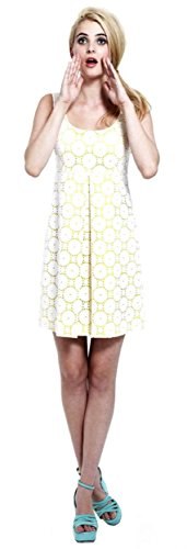francis-christian-francis-roth-womens-eyelet-dress-sz-8-yellow-white-120758f