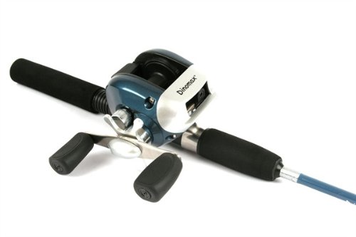 Dinomax Baitcasting Reel and Kayak Rod Sea or Freshwater Fishing Combo