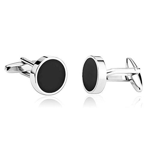 adisaer-manschettenknopfe-edelstahl-cufflink-blanks-runde-schwarz-silber-manschettenknopfe-herren-ho