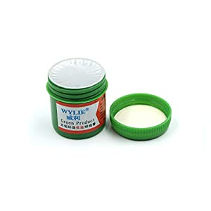 Jammas solder paste for iphone Mobile phone planting tin Low temperature 138 degrees Tin planting Solder repair - (Color: wl-720 Green oil) (Color: wl-720 Green oil)