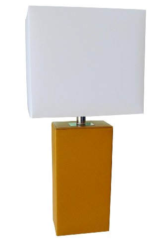 Elegant Designs LT1025-TAN Modern Tan Leather Table Lamp at Sears.com