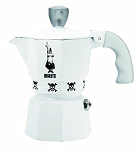 "Bialetti: Moka Express ""Artisti"" Limited Edition 1-Cup White [ Italian Import ] by Bialetti"