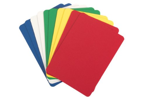 Buy Bargain Set of 5 Plastic Poker Cut Cards (Assorted Colors)