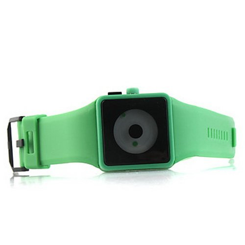 ODM NOXIN Green Plastic Band Quartz Wrist Watch For Men Women