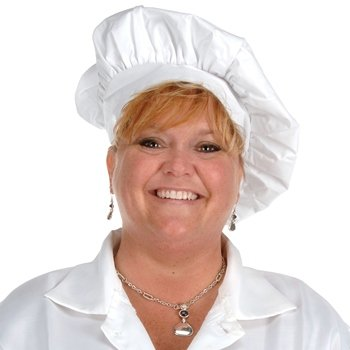 Oversized Fabric Chef's Hat (white) Party Accessory  (1 count) (1/Pkg)