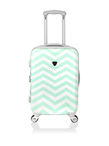 Travelers Club Luggage Modern 20 Inch Chevron Expandable Carry-On Spinner