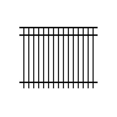 Allure Aluminum Cosmopolitan 5 ft. x 6 ft. Black Aluminum 3-Rail Unassembled Fence Panel (4-Pack) (Rail Fence Panel compare prices)