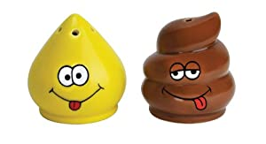 Big Mouth Toys Tinkle and Turd Salt and Pepper Shaker set by Big Mouth Toys