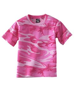 L.A.T. Youth Camo T-shirt - PINK WOODLAND - Large