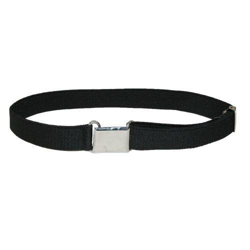 Aquarius Kids Elastic with Hook & Eye Buckle Adjustable Belt, Black