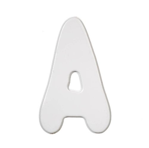 Darice 9186-A Wood Letters, Baby Font A, White, 5-Inch - 1