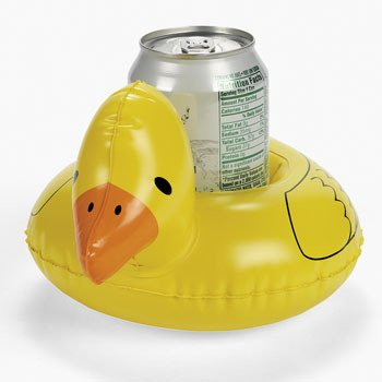 Pack of 4 Inflatable Ducky Coasters