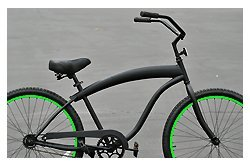 Fito Modena Sport 1-speed Men - Matte Black/Neon Green, 26