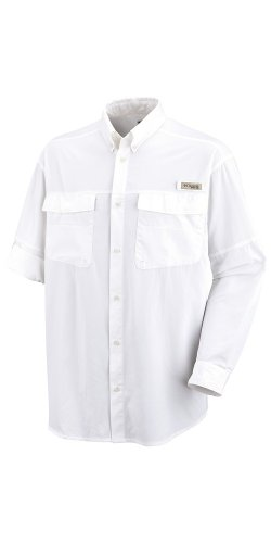Columbia Sportswear Blood and Guts Lightweight Long Sleeve Shirt (Large, White)