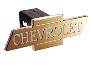 Chevy - Gold - Inscribed Chevrolet - Cutout Bowtie - 2 Inch Billet Hitch Cover