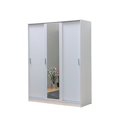 3-trg-Kleiderschrank-KAJA-Schiebetrenschrank-wei-mit-Spiegel