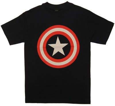 キャプテン・アメリカロゴ Tシャツ Captain America Logo T-shirt  アメコミ マーベル