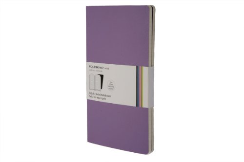 311cF4Id0xL. SL500  Moleskine Volant Notebook (Set of 2 ), Large, Ruled, Light Violet, Brilliant Violet (5 x 8.25)