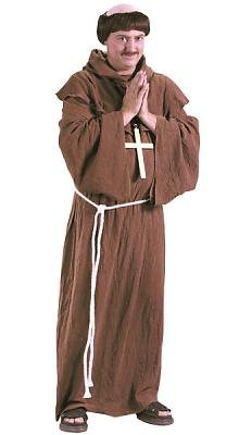 Medieval Monk  Wig Men's Costume Adult Halloween