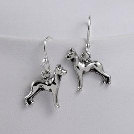 Great Dane Sterling Silver Earrings