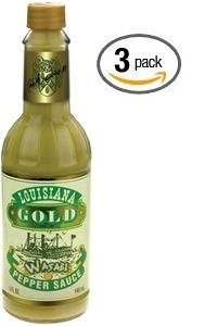 Louisiana Gold Wasabi Pepper Sauce - (3 Pack of 5 Oz.Bottles) (Louisiana Gold Sauce compare prices)