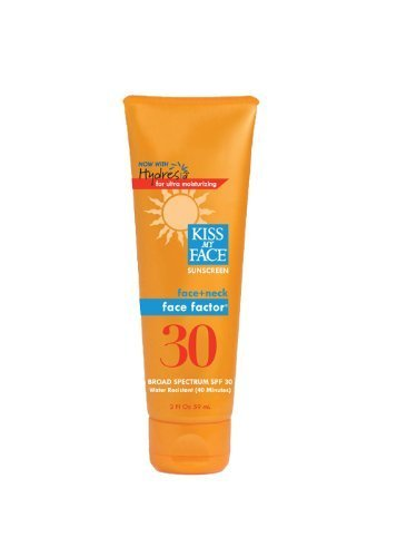 Kiss My Face Face Factor Sun Screen For Face And Neck, Spf 30, 2-Ounce Tubes (Pack Of 3)