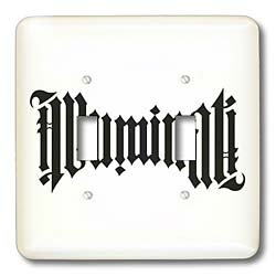 EvaDane – Signs – Illuminati Ambigram. – Light Switch Covers – double toggle switch