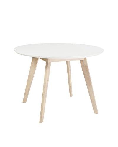 Eurostyle Montana Round Dining Table, White
