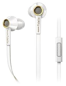 Philips Fidelio S2 Ecouteurs intra-auriculaires blancs S2WT/00 avec finition glossy en laque, embouts en mousse Comply et haut parleurs avec contrôle de mouvement