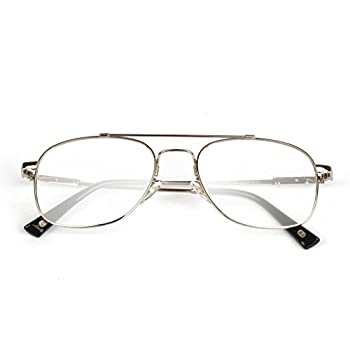Liansan Brand Designer High Quality Retro Vintage Bifocal Reading Glasses Mens Eyeglasses L3695T(silver,+2.50)