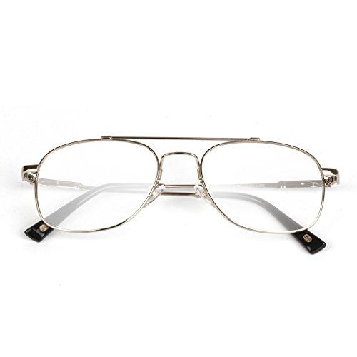 Liansan Brand Designer High Quality Retro Vintage Bifocal Reading Glasses Mens Eyeglasses L3695T(silver,+2.50) 2