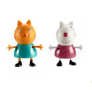 Peppa Pig Figures Candy Cat & Suzy Sheep Twin Pack