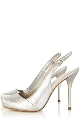 Metallic Sling Back