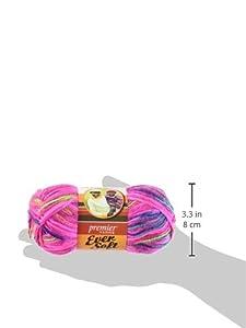 Premier Yarn 3-Pack Ever Soft Multi Yarn, Neon Lights
