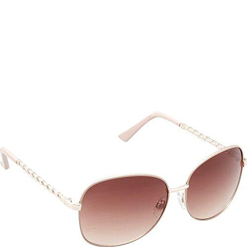 union-bay-womens-u543-gldtp-oval-sunglasses-gold-taupe-61-mm